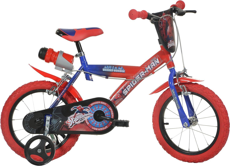 Dino Bikes 14-Inch Spider Man Childrens Bike: Amazon.es: Deportes ...
