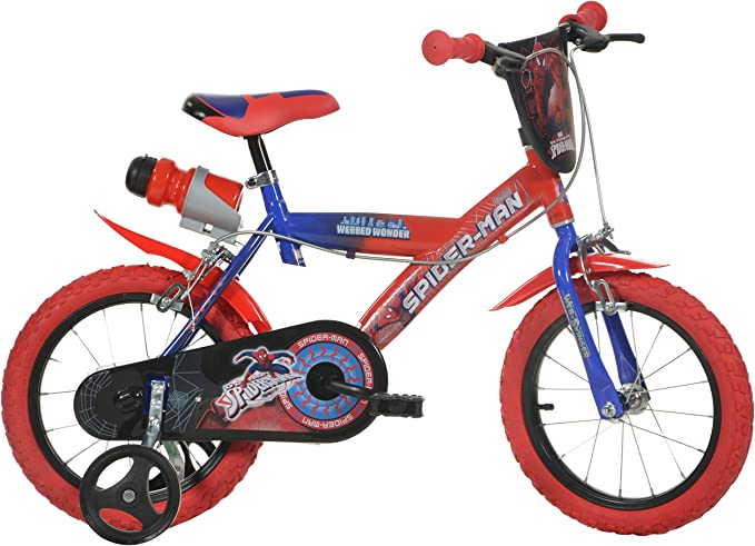 Dino Bikes 14-Inch Spider Man Childrens Bike: Amazon.es: Deportes y aire libre