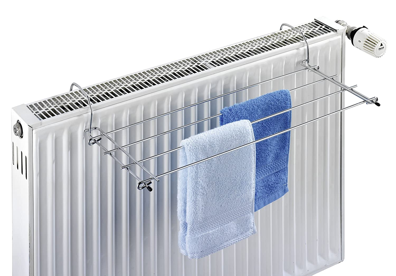 Metal Cromado Wenko Tendedero Radiador 23x57x7.5 cm Plata Brillante