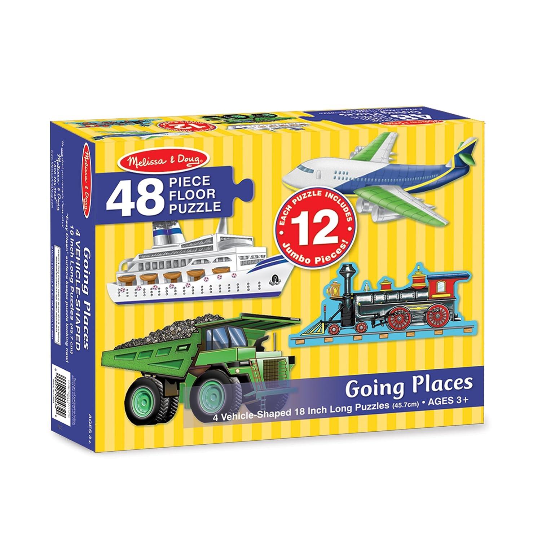 Melissa & Doug Going Places Vehicles Floor Puzzles (4 puzzles, 12 pcs each) 48pc 432