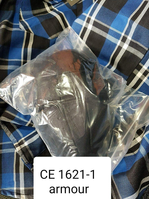 36//91cm S Black Tab Chemise de moto grise et noire enti/èrement renforc/ée avec doublure de protection en aramide Kevlar et armure CE,
