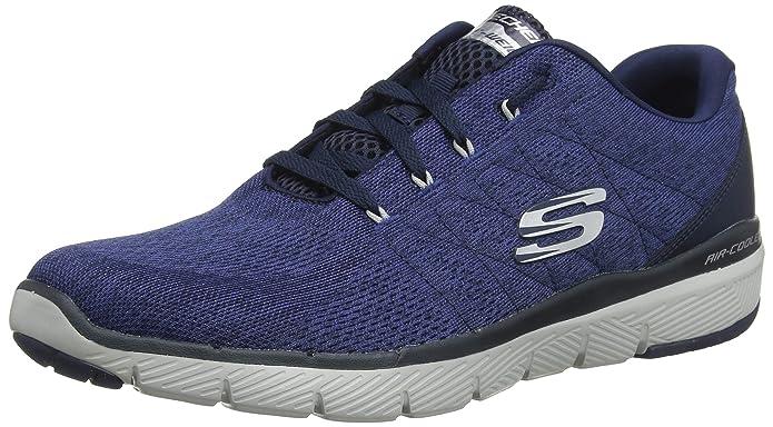 Skechers Flex Advantage 3.0-Stally Sneakers Herren Blau (Navy Mesh)