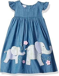 9abdd2c0f5ee Amazon.com  Mud Pie Baby-Girls Safari Elephant Dress  Infant And ...