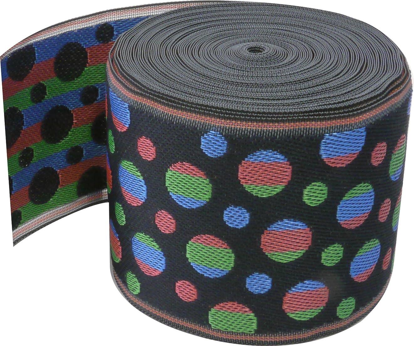 粒子どうしたの困惑したKAWAGUCHI カワグチ くるくるおなまえテープ 1.5cm巾×1.2m巻 ラベンダー水玉 TK11400