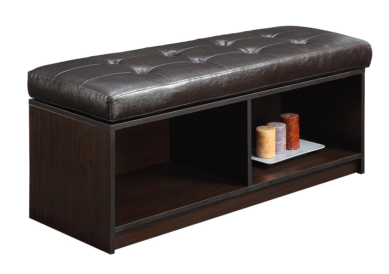 Amazon.com: Convenience Concepts Designs4Comfort Contemporary Broadmoor Storage  Ottoman, Espresso Faux Leather: Kitchen U0026 Dining