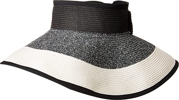 5082e3ea939dd8 San Diego Hat Company Women's UBV038 Roll Up Visor With Bow Closure Mixed  Black One Size