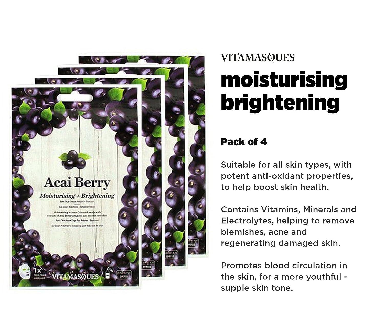 Vitamasques - Technologie de pointe de soins de la peau de luxe classique coréenne, masques de qualité supérieure, feuille triple couche, 100% naturel, résultats instantanés (Variety Pack, 5 Masks)