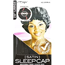 Magic Collection Wide Band Sleep Cap Organic Argan Oil Treated Cap #3001 BLA