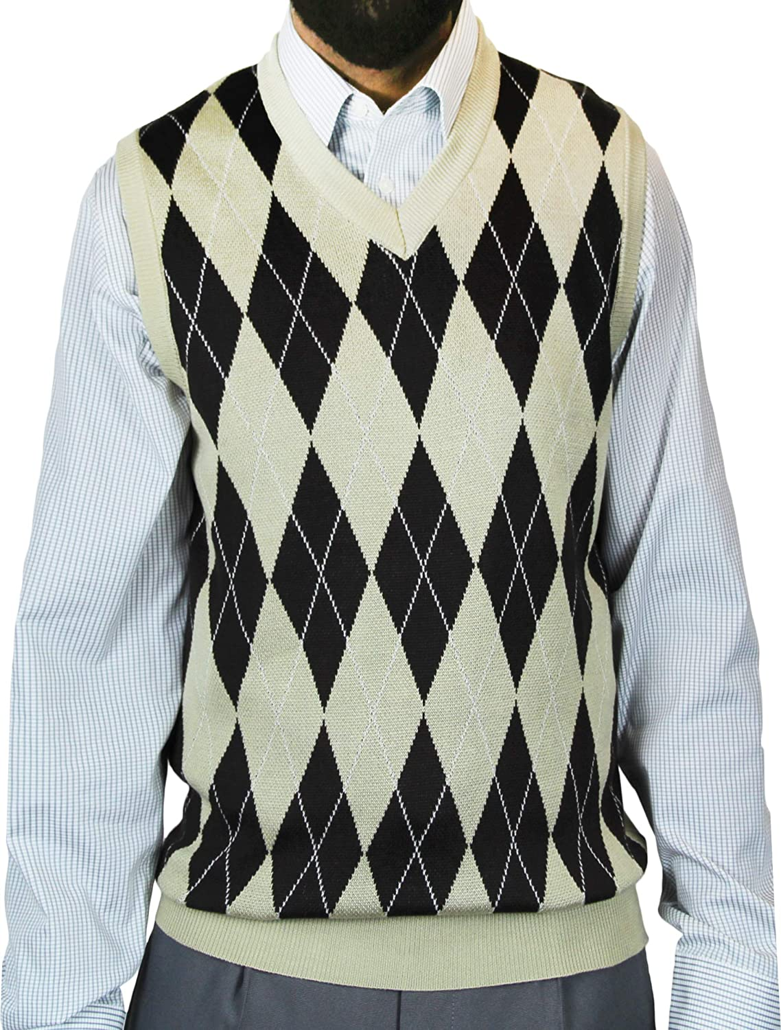 Blue Ocean Big Men Argyle Jacquard Sweater Vest SV-2455BM