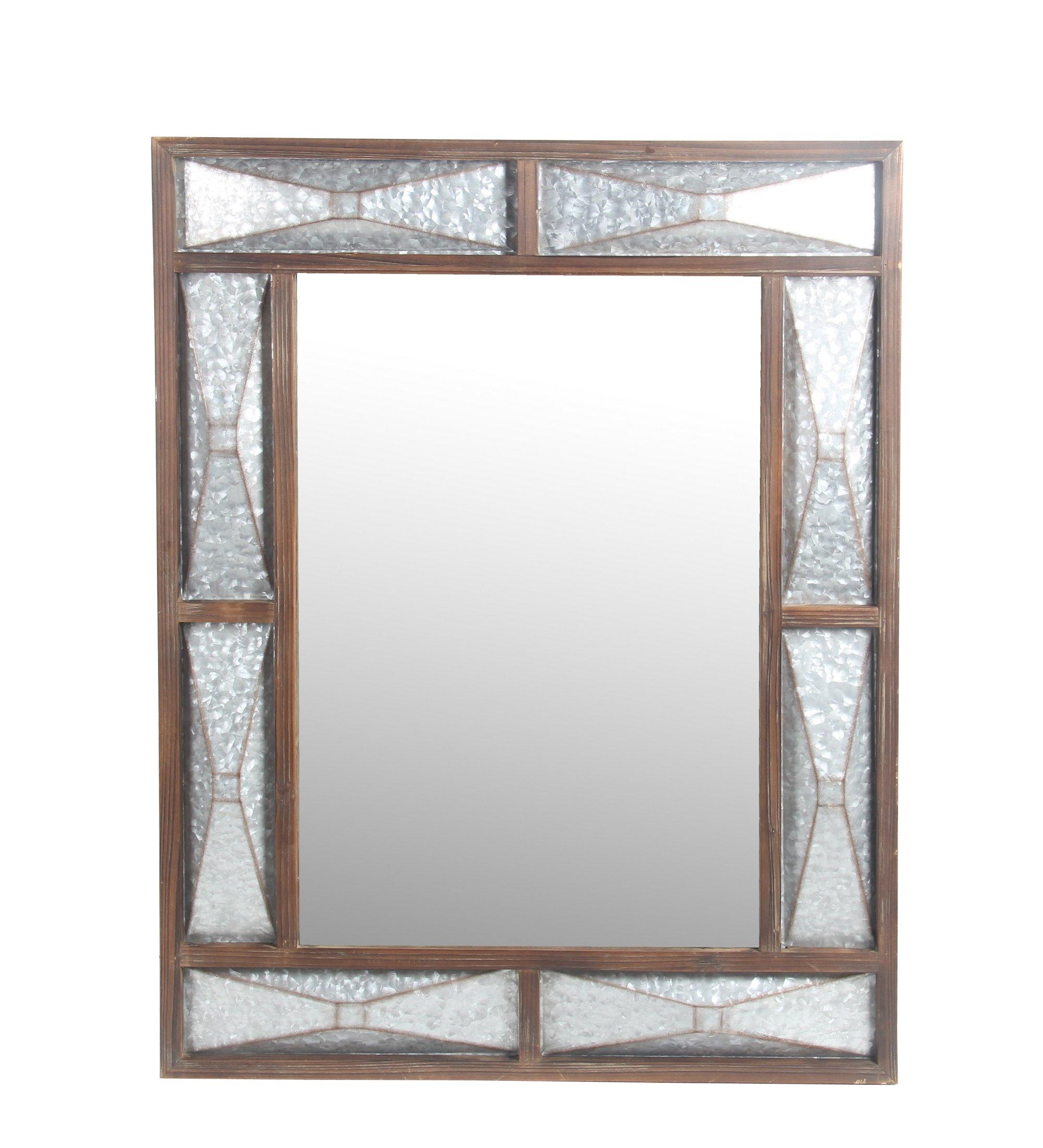 Privilege 32017 Galvanized Wall Mirror