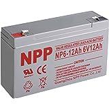 NPP 6V 12 Amp NP6 12Ah Rechargeable Sealed Lead Acid Battery