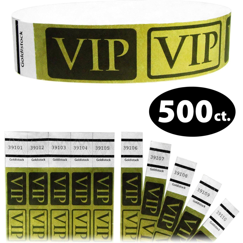 Event Identification Bands 3//4 Tyvek Wristbands Sunburst Neon Orange 200 Count Paper - Like Texture Goldistock Original Series