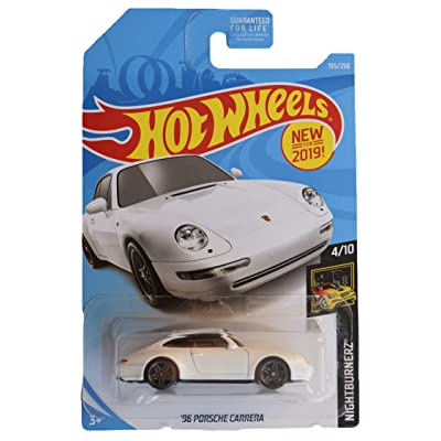 Hot Wheels Nightburnerz 4/10 [White] '96 Porsche Carrera 155/250: Toys & Games