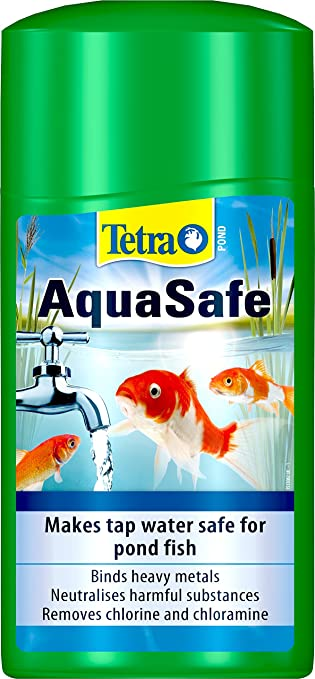 treatment  removes chlorine and chloramine from tap water TETRA POND Aquasafe