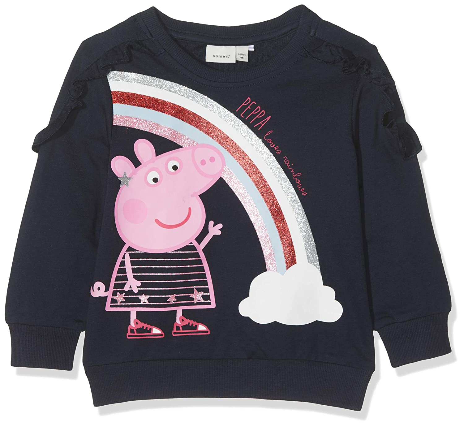 NAME IT Baby-M/ädchen Nmfpeppapig Marie Sweat Unb Box LIC Sweatshirt