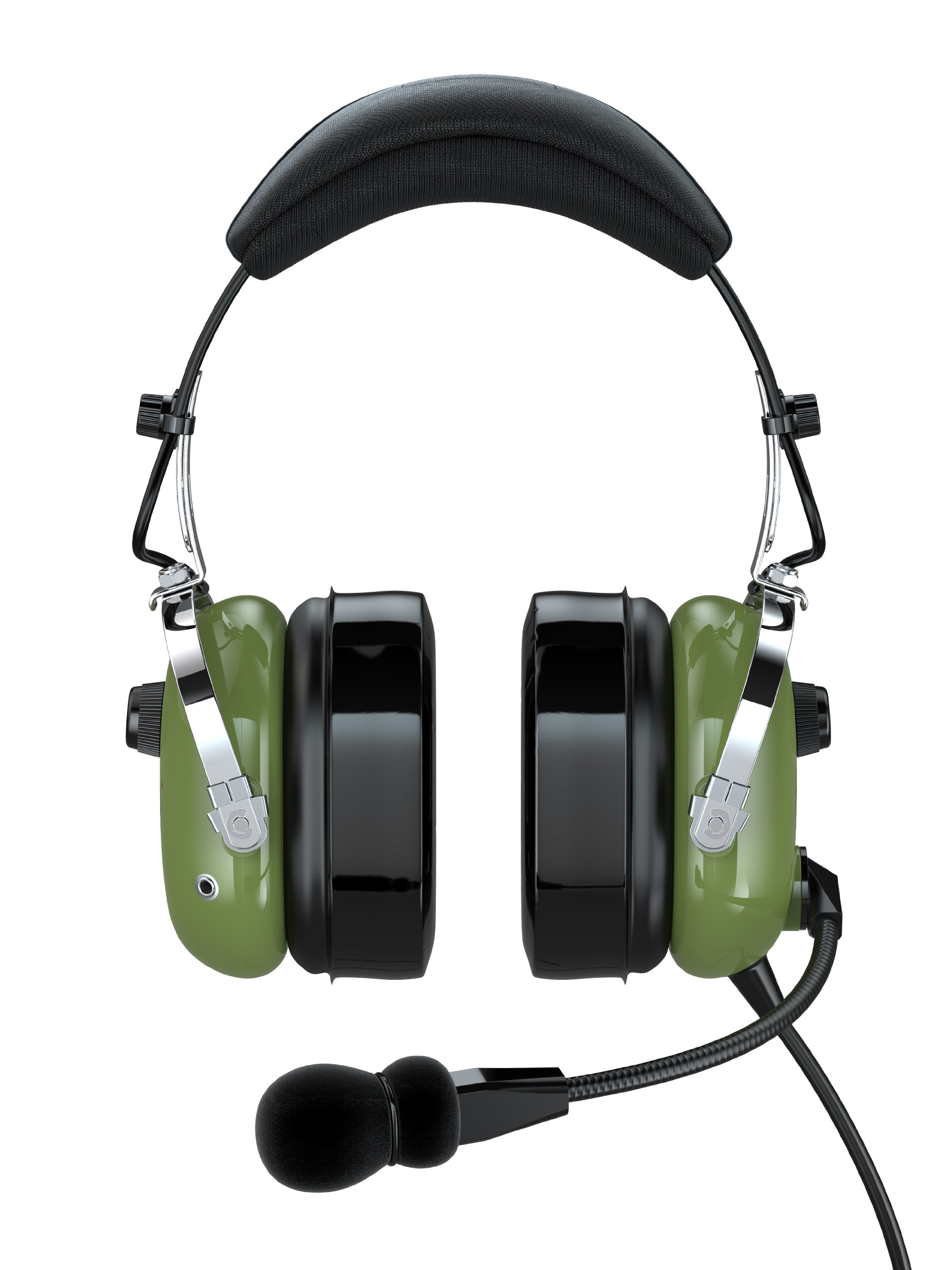 FARO G2-PNR Premium Pilot Aviation Headset with Mp3 Input (Adapters for aviation headset connectors, standard dual GA adapter universal support)-Green
