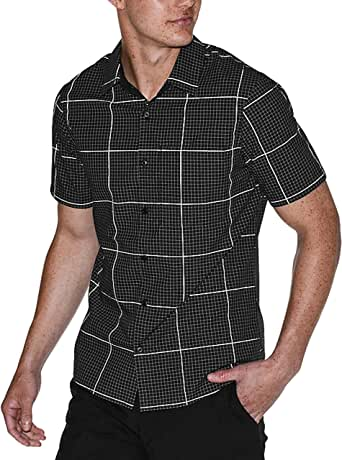 Lululemon Grid Light SS Shirt - BLK/SESL (M) at Amazon Men
