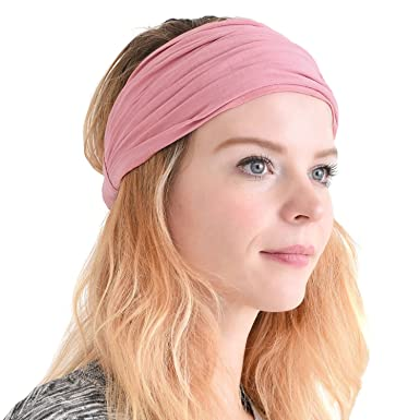 Casualbox Mens Head Cover Band Bandana Stretch Hair Style Japanese Salmon  Pink  Amazon.in  Clothing   Accessories 28df7213f54