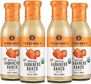product image for Tessemae's Organic Habanero Ranch Dressing, Whole30 Certified, Keto Friendly, USDA Organic, 10 oz. bottles (4-Pack)