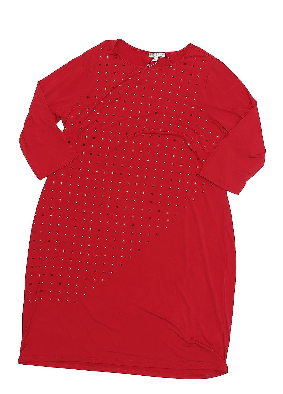 3e4c35008ba SPENSE PLUS SIZE GROMMET TRIM SHIFT DRESS (16W