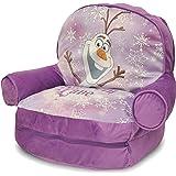 "Bag Slumber Disney Frozen Bean Bonus With Toddler Lounge Seating Sofa, Includes bonus 46""L x 20""W slumber bag inside zipper compartment and Dimensions: 19""L x 21""W x 10-1/2""D"