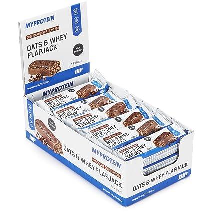 MyProtein Oats & Whey Barritas Proteínicas, Sabor Chocolate Peanut - 18 Barras