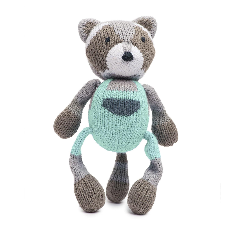 Finn Emma Rattle Buddy Organic Cotton Knit Rattle for Baby Boy or Girl Ramsey The Raccoon