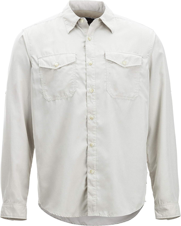 Exofficio BugsAway Briso Camisa de Manga Larga con Botones para Hombre, Hombre, 11012853-8050, Crema, Large: Amazon.es: Deportes y aire libre
