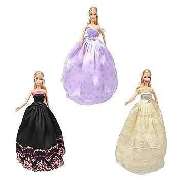 Damara Elegante 3 Piezas Falda Sin Tirantes Ropa De Novia Vestidos Para Muñeca