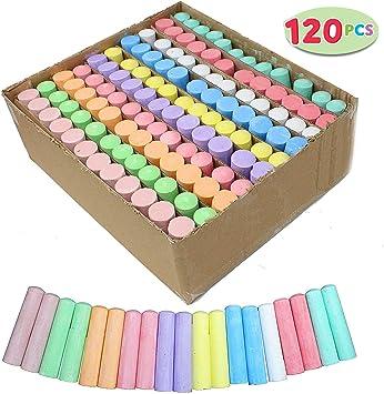 48 NEW COLOURED CHALK 4 Packs Of 12 Colour Chalks Childrens Art Craft