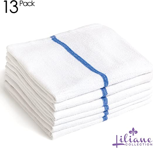 ELOMELO Mops Kitchen Towels Terry Bar Mop Dish Towel Thick and Absorbent Blue Stripe, 25 16 x 19 Commercial Grade 100/% Cotton Kitchen Towels