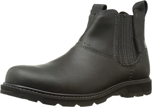 Skechers Men Brown Leather /'Blaine Orson/' Chelsea Boots