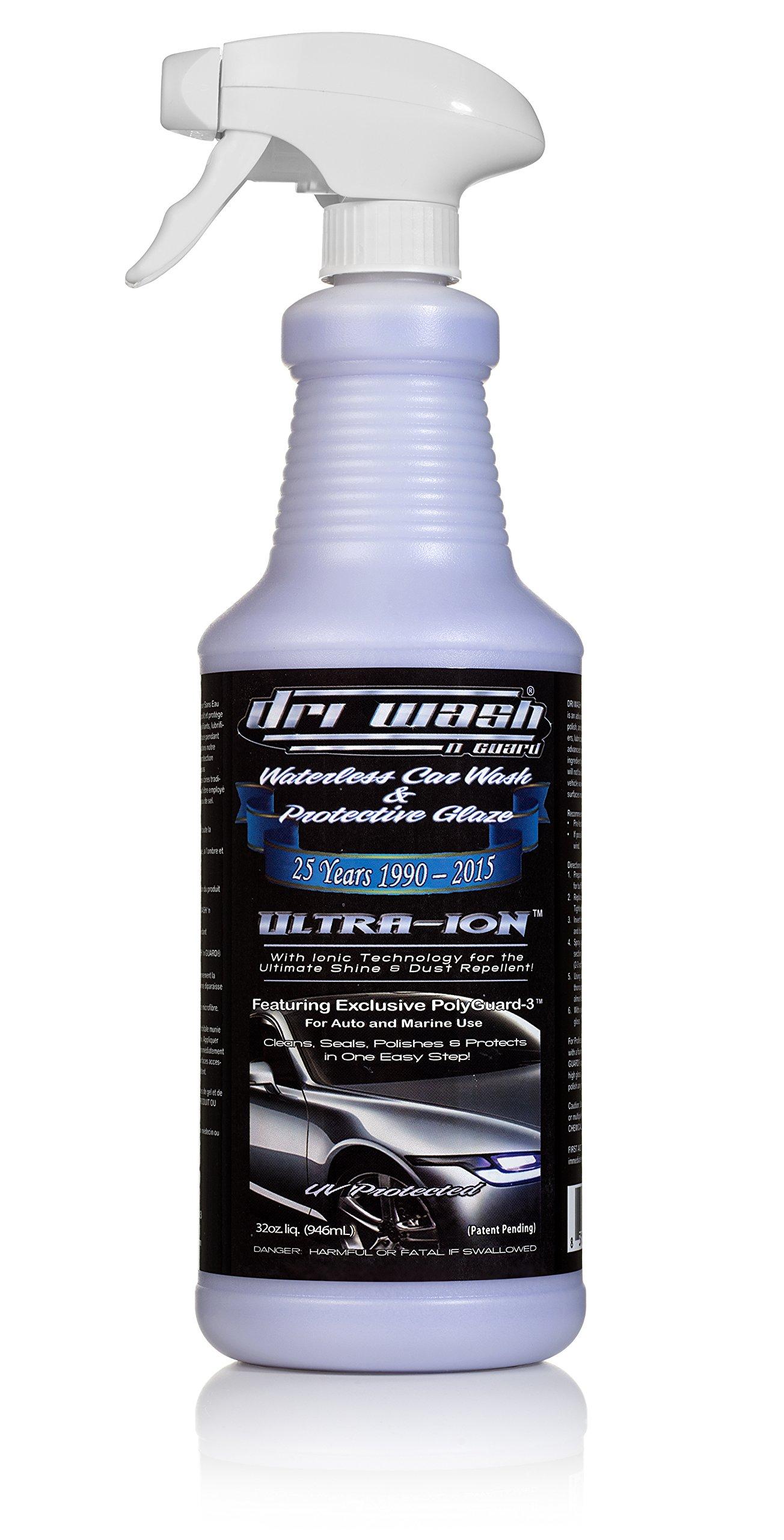 32oz Dri Wash 'n Guard Ultra-Ion Waterless Car Wash (w/Trigger Sprayer)