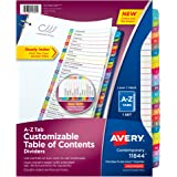 Avery Customizable Table of Contents Dividers , A-Z Set (11844)