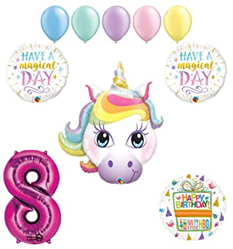 Magical Unicorn 8th Birthday Party Supplies And Balloon Decorations
