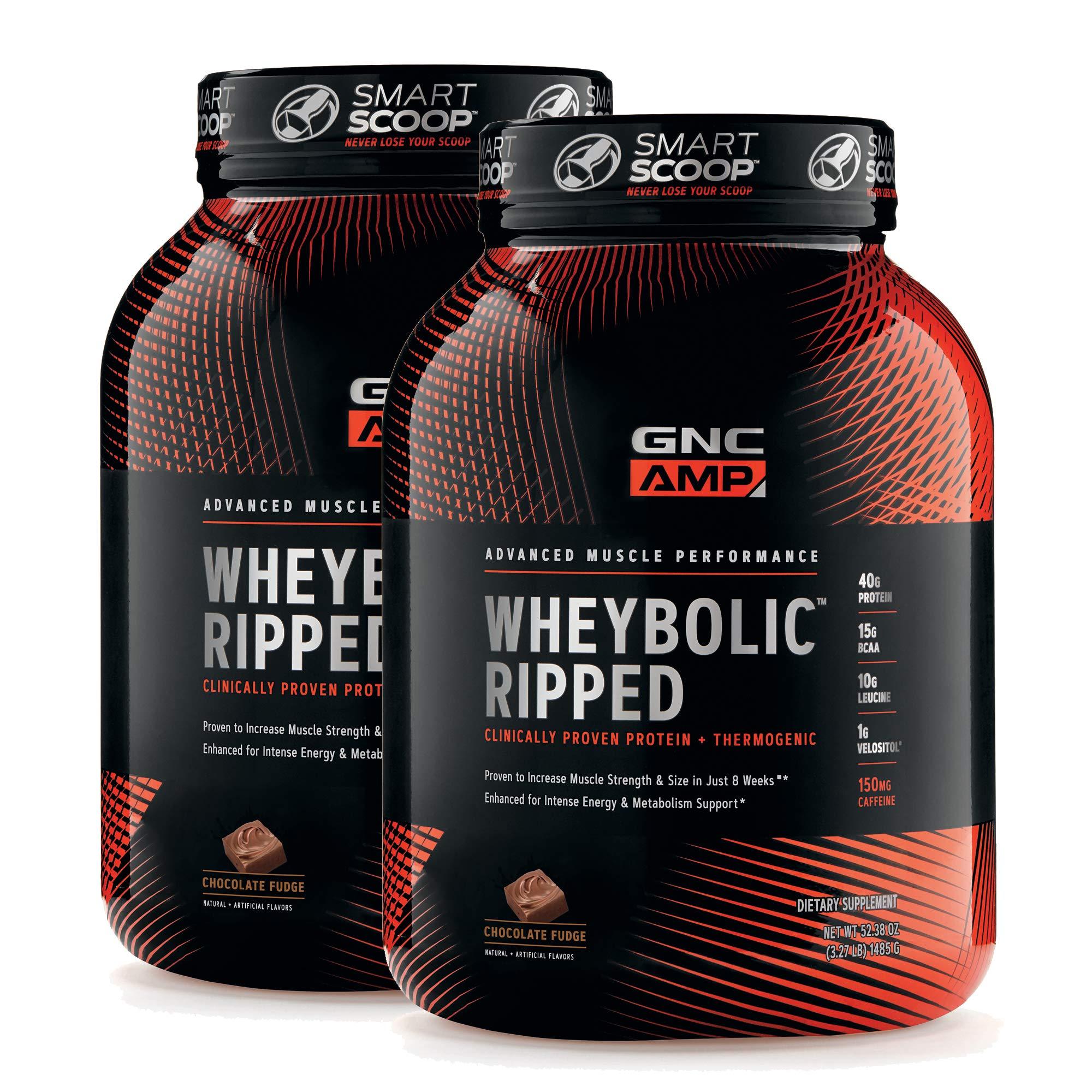 GNC AMP Wheybolic Ripped - Chocolate Fudge - Twin Pack