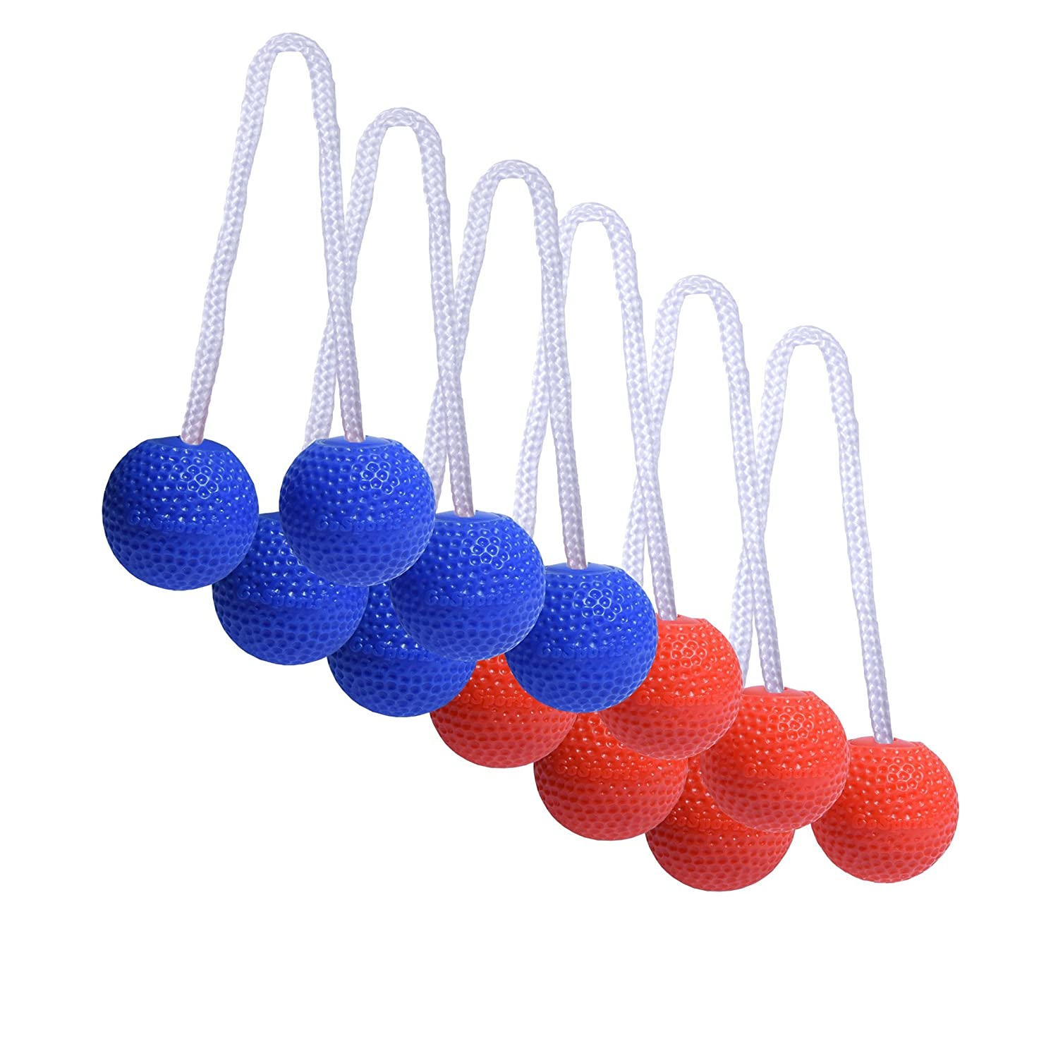 GoSports Ladder Toss Bolo Replacement Set - Kid Safe Soft Rubber or Hard Golf Balls | Choose Your Style