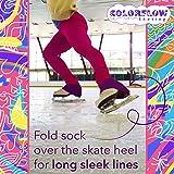 Purple Microfiber Knee High Skating Socks