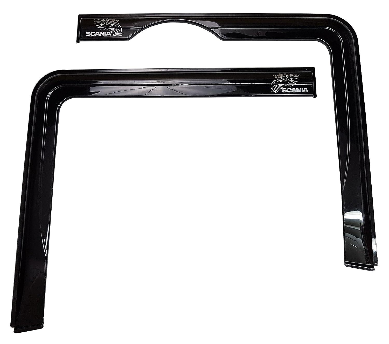 Lot de 2pcs. spécifiques Déflecteurs d'air Rain Window Side Winddeflectors teinté pour cabine de camion Trucker Accessoires Unknown
