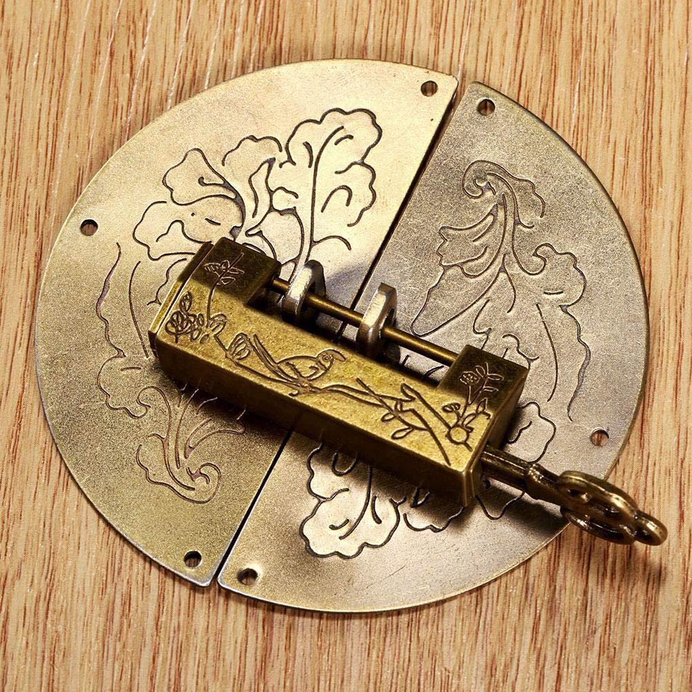 Mini cadenas /à cl/é vintage en laiton pour bo/îte /à bijoux en bois