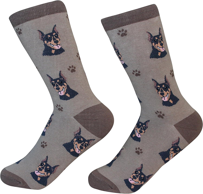 Doberman Dog Breed Socks Unisex Sock Daddy by E&S Pets
