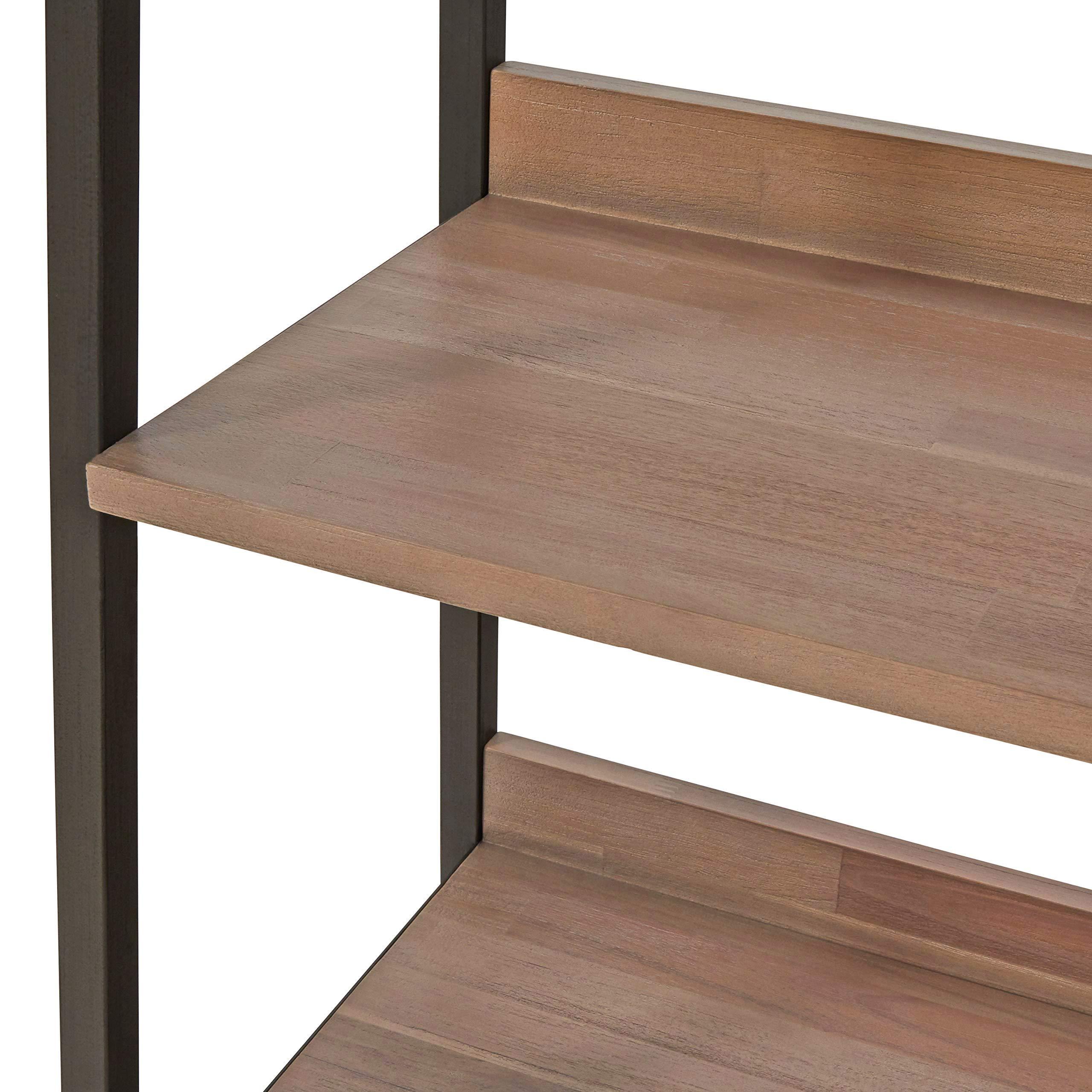 Rivet Roxmere Modern Bookcase, 23.6''W, Acacia, Sandblast Gray by Rivet (Image #7)