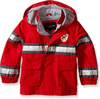 LONDON FOG Little Boys' Toddler Fireman Rain Slicker