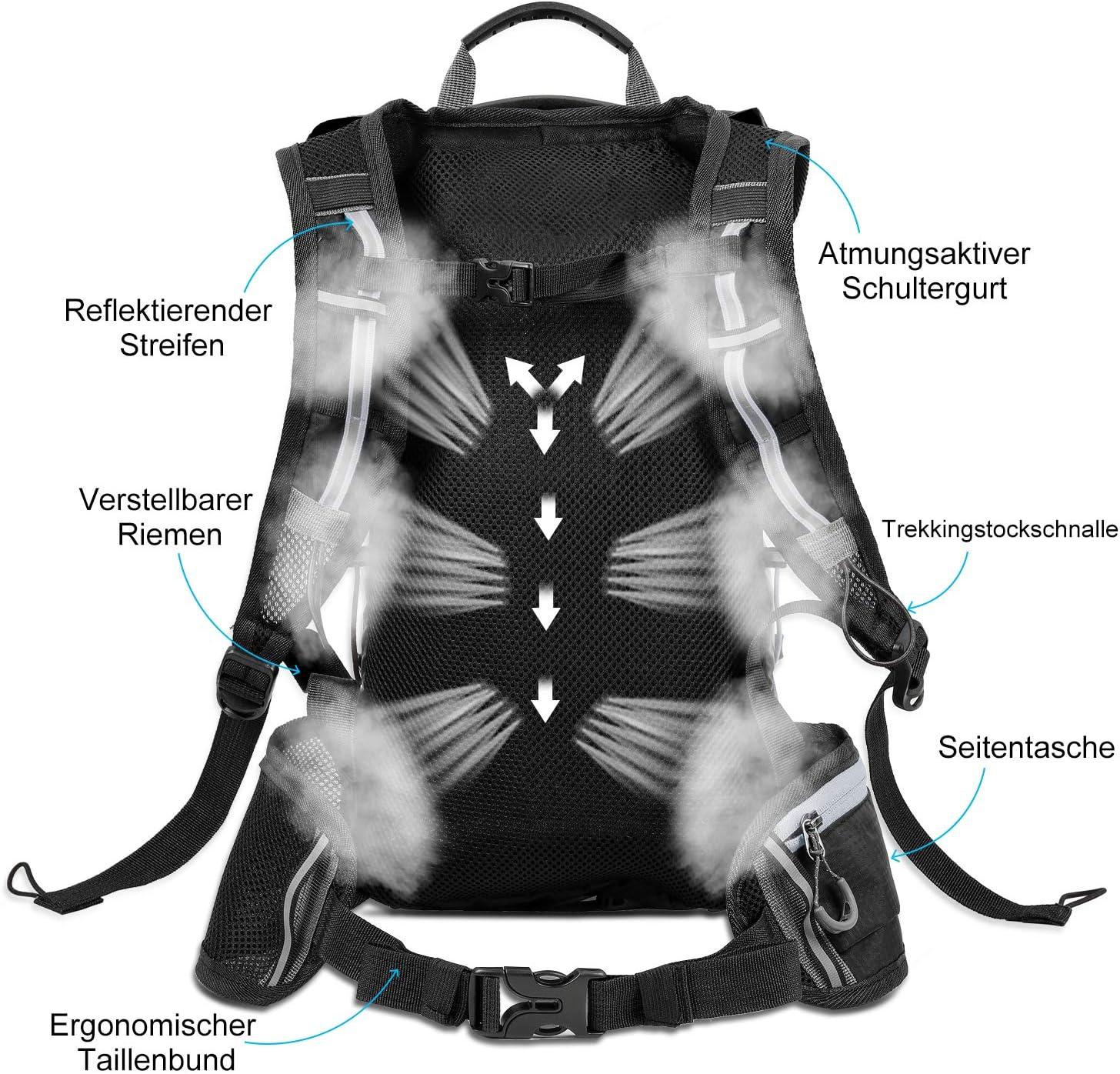 l/éger Respirant WESTGIRL Sac /à Dos de v/élo imperm/éable Sac /à Dos Pliable de v/élo Sac dhydratation avec Poche /à la Taille pour Sports de Plein air 10L