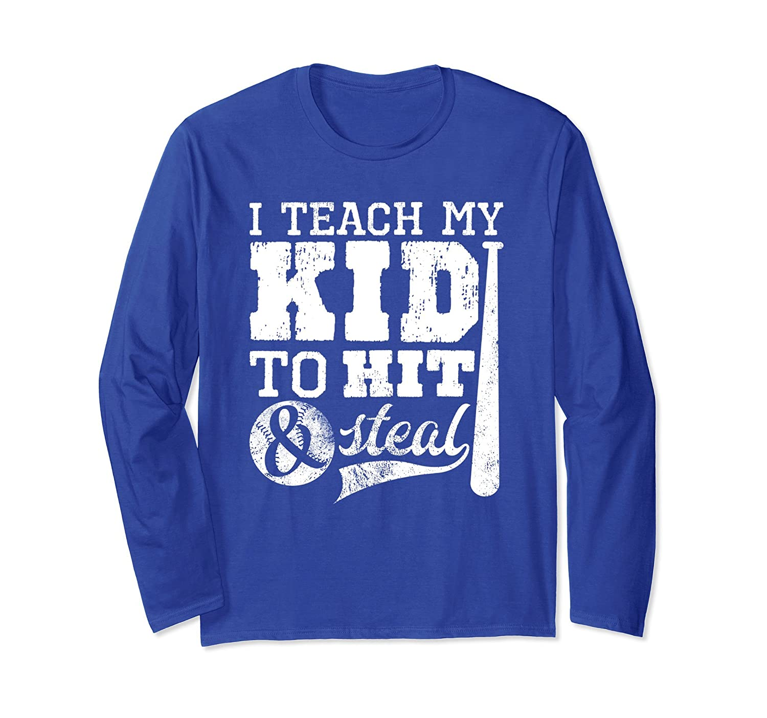 Baseball Mom Shirts I Teach My Kid to Hit and Steal Shirt-alottee gift