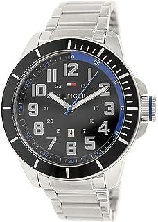 Tommy Hilfiger Mens 1791074 Silver Stainless-Steel Analog Quartz Watch