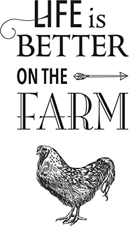 Amazon Com Fluffy Layers Life Is Better On The Farm Metal Tin Sign Vintage Style For Home Farm Chicken Coop Home Improvement