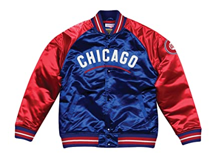 51cfd4824 Image Unavailable. Image not available for. Color: Mitchell & Ness Chicago  Cubs MLB Tough Season Premium Satin Jacket