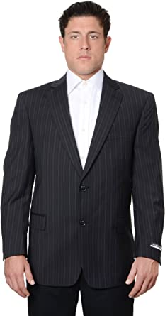 Austin Reed Mens Pure Wool Striped Suit Separate Coat Extra Long Black Black Amazon Co Uk Clothing