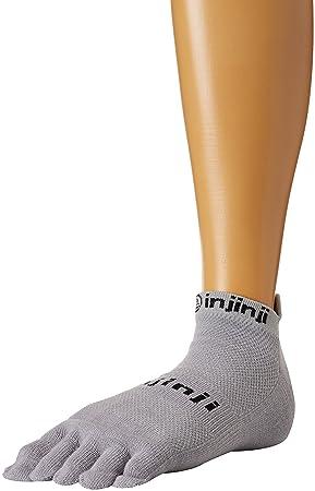 Injinji Run Original Peso no show Xtralife de calcetines, hombre, gris, small